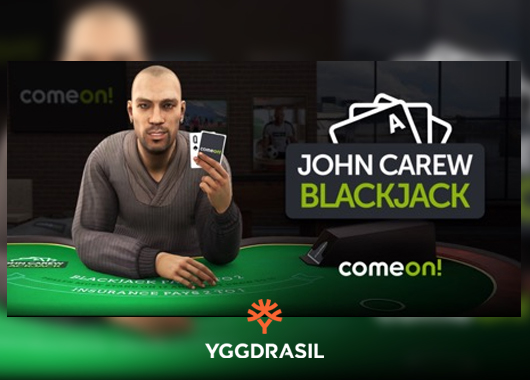 Yggdrasil Releases Blackjack Game Featuring Former Aston Villa Star John Carew
