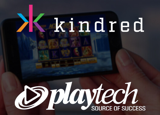 Playtech's Casino Offering Live with Kindred's Brands